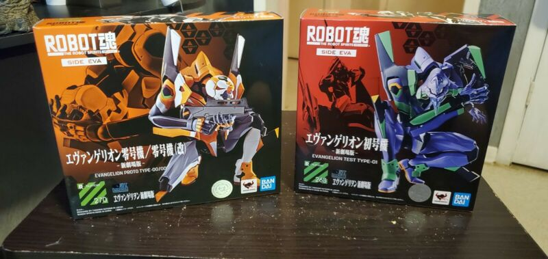 Bandai Tamashii Robot Spirits Rebuild of Evangelion Unit 01 and Unit 00
