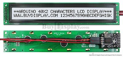 White Iici2ctwi Character 40x2 Lcd Display Module For Arduino Wwirelibrary