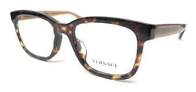 New Versace 3239 108 Havana Men's Authentic Eyeglasses Frame 54-20