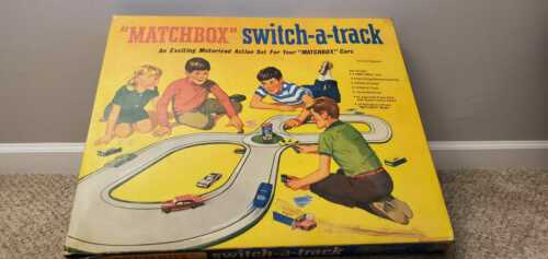 Vintage Matchbox Switch-A-Track in Box - Mostly Complete - Working Motor
