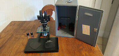 American Optical Ao Spencer 28lf Stereo Microscope Vintage Open Box