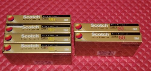 Scotch XSII-S 90/60 High Bias Type II Cassette Tapes (6) New-Sealed
