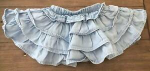 Seed Girls Denim Skirt with Built-In Nappy Cover - Size 000 (0-3m)