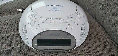Sony Dream Machine ICF-CD831 CD Player Alarm Clock AM/FM Radio White Working