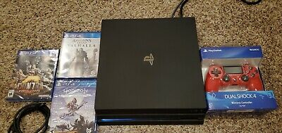 Sony PlayStation 4 Pro 1TB Console - Black with Extras!