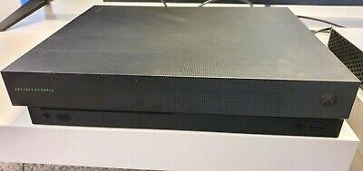 🦂Microsoft Xbox One X Project Scorpio Edition 1TB Black Console RARE VGC LOOK🦂
