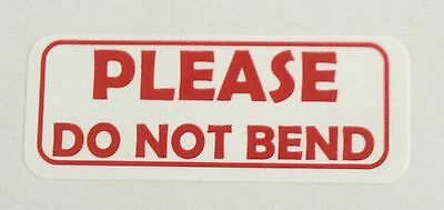 Please Do Not Bend Labels - 1 X 2 58 - 300 Total - 30 Per Sheet