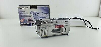 Sony M-200MC Microcassette-Corder VOR boxed with zoom microphone matching number