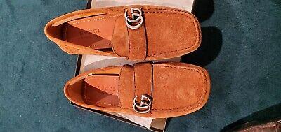 Gucci Men's Noel Brown Drivers Loafers SZ 7.5 8