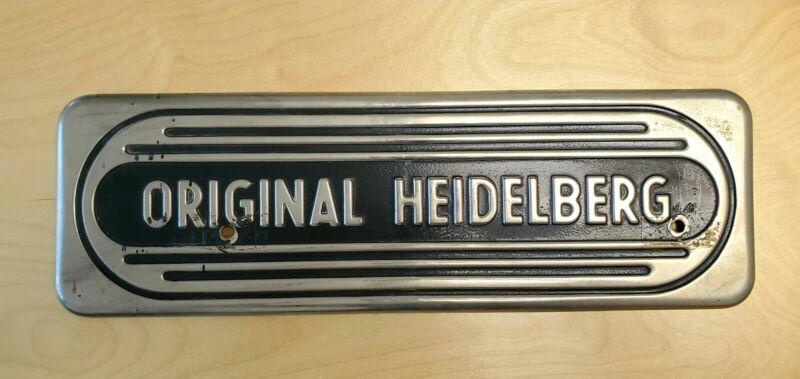 Heidelberg Windmill Letterpress Front Guard Part No. 2105