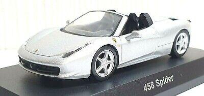 1/64 Kyosho FERRARI 458 ITALIA SPIDER SILVER diecast car model