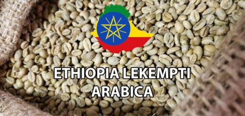5 LBS ETHIOPIA LEKEMPTI GREEN UNROASTED COFFEE BEANS - ARABICA