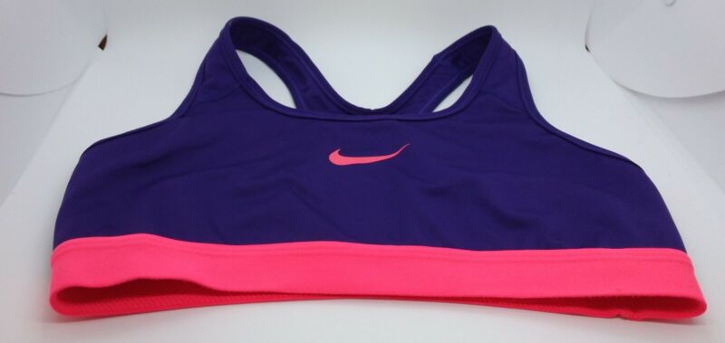 Girls Nike Purple Strappy Sports Bra Size S Free Shipping