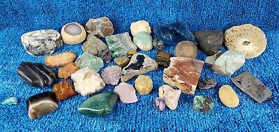 Misc gem, mineral, rock, stone, and crystal lot specimens natural