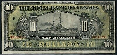 10 1913 Royal Bank Of Canada  Battleship  Neill   Holt  630 12 08 Vf   Wlm4498