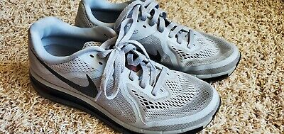 Mens Nike Air Max 2014 Wolf Gray Running Shoes 621077-020 Size