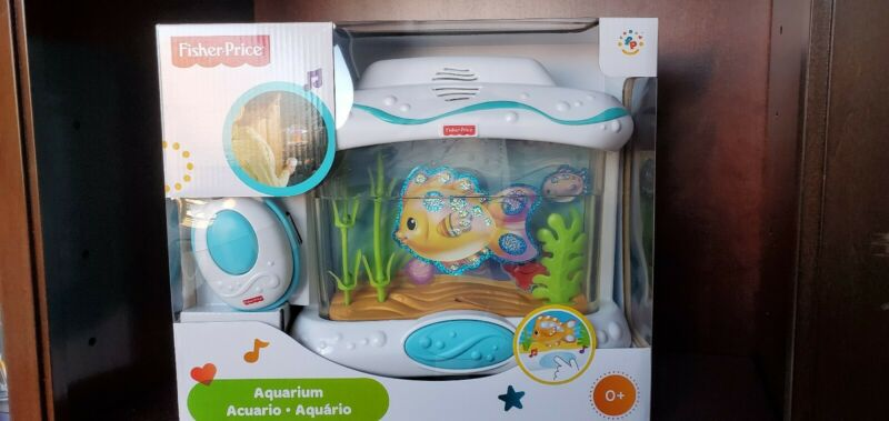 Fisher-Price Ocean Wonders Aquarium Infant Crib Toy Lullabies Remote Control