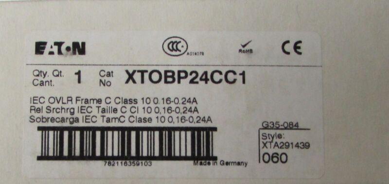 EATON CUTLER HAMMER XTOBP24CC1 IEC .16-.24 Amp Overload Relay G35 084 XTA291439