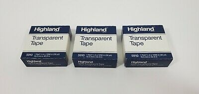 3 Pack Of 3m Highland 5910 Transparent Tape - 34in X 36 Yd 108 Yd Total Usa