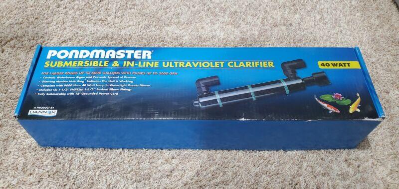 Danner/Pondmaster Submersible / Inline 40 watt UV sterilizer and clarifier