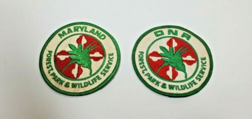 Vintage Maryland DNR Forest, Park & Wildlife patches