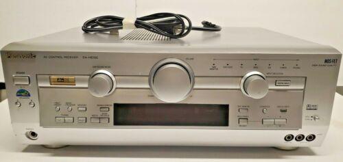 Panasonic SA-HE100 6.1 Channel 350 Watt A/V Receiver~Silver, Tested, No Remote
