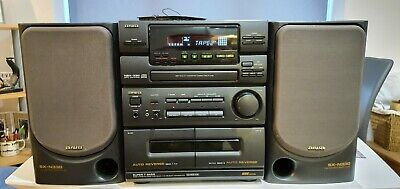 Rare And Vintage Hi-fi Sony Aiwa Nsx 330 With two Sx N330 Speakers 1992