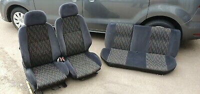 2 X CAR SEAT COVERS pair front seats fit Vauxhall Corsa charcoal grey//red