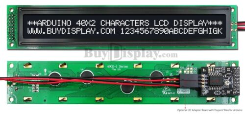 Black IIC/I2C/TWI Character 40x2 Serial LCD Module Display for Arduino w/Library