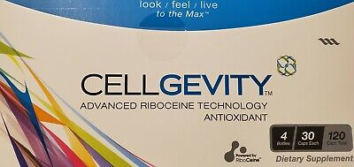 Cellgevity, Riboceine Technology * 1 Month Supply *4 Bottles (30 Caps each) New