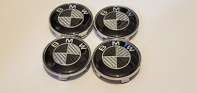4x 68MM Carbon Fiber Wheel RIMS Center Hub Cap Caps Rim Logo FIT BMW M Series