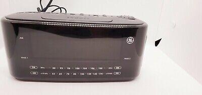 GE General Electric Large Display Dual Alarm Clock Radio w/ Buzzer 7-4852A Black