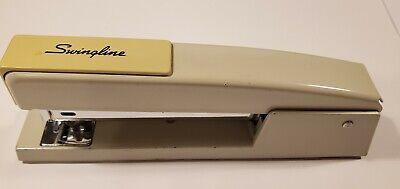 Vintage Heavy Swingline Model 747 Stapler Cream Putty Beige Works