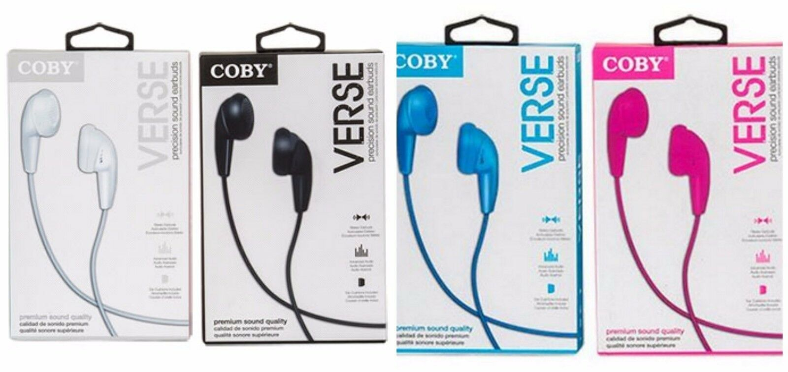 lot of 4 verse precision sound earbud