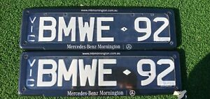 BMWE92 number plates VIC