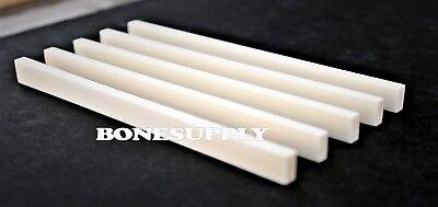 5 PCS GUITAR BONE SADDLE BLANKS INLAY MATERIAL 125mm x 25mm x 3mm #T-651