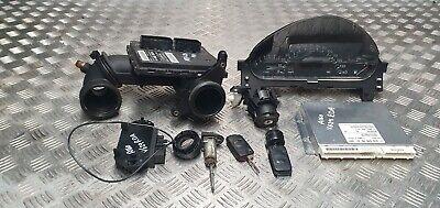 Mercedes A160 1999 1.6 petrol ignition barrel key transponder engine ecu kit
