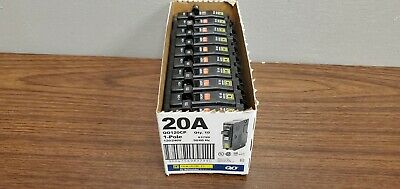 Square D Qo120 Qo120cp 20a 1 Pole Circuit Breaker 120v 240v Box Of 10 New Open