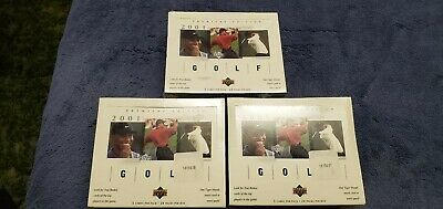 2001 Upper Deck Golf Factory Sealed Hobby Box Tiger Woods rookie card RED HOT!