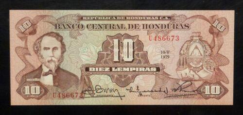 1979 HONDURAS  10  LEMPIRAS  P 64a UNC