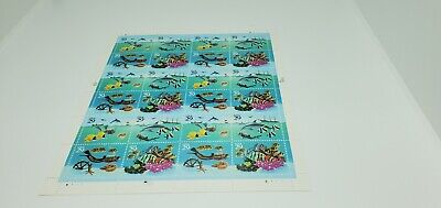 USA~TROPICAL FISH~FULL SHEET~POSTAGE STAMPS~29 CENT~MNH