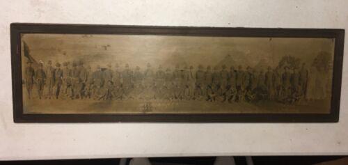 "1922 CAMP CUSTER MICHIGAN = BATTERY B122ND YARD LONG PHOTOGRAPH 28"" LONG FRAMED"