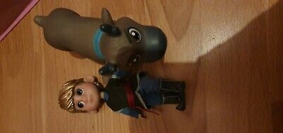 Disney mini animators doll/figure toddler Kristoff + sven reindeer  frozen htf