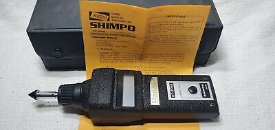 Shimpo Dt-205b Digital Optical Contact Tachometer In Case Tips Instructions