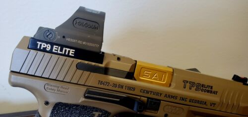 Canik tp9 Elite SF SFX TP9 Elite Combat #2 Optic plate RMR Holosun 508T 507C