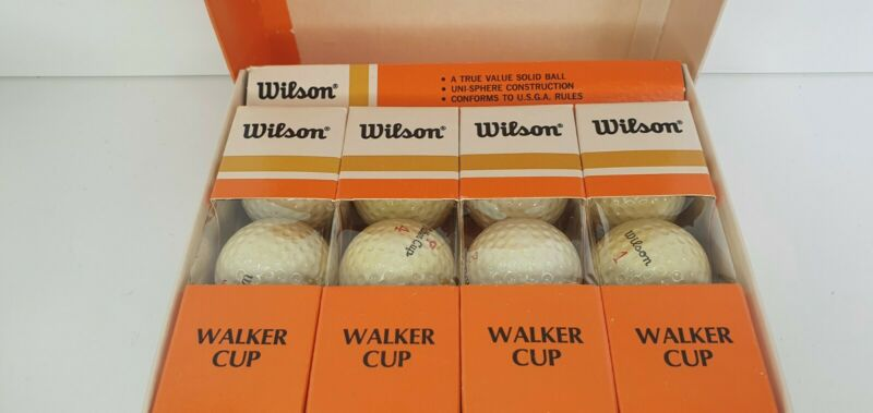 Vintage Walker Cup Golf Balls Pro Pga Golf Gear