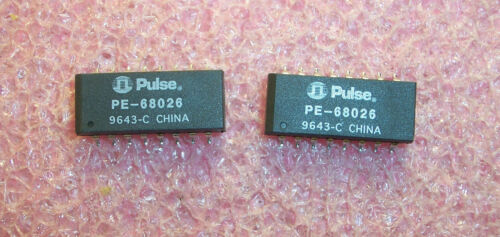 QTY (20) PE68026 PULSE 16 PIN SMD 10 BASE-T TRANSFORMER NOS 1 TUBE