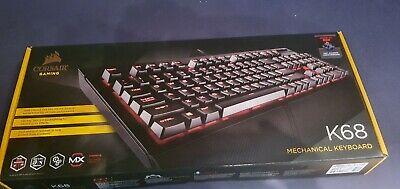 Corsair K68 Rot LED Mechanische Gaming Tastatur Cherry MX Red QWERTZ DE