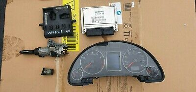 Audi A4 SE 2006 B7 2.0 petrol ignition barrel key transponder engine ecu kit