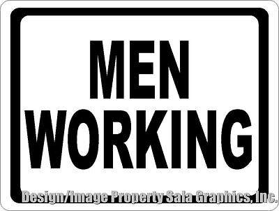 Men Working Sign. Size Options. Construction Zone Dangerous Work Areas Safety